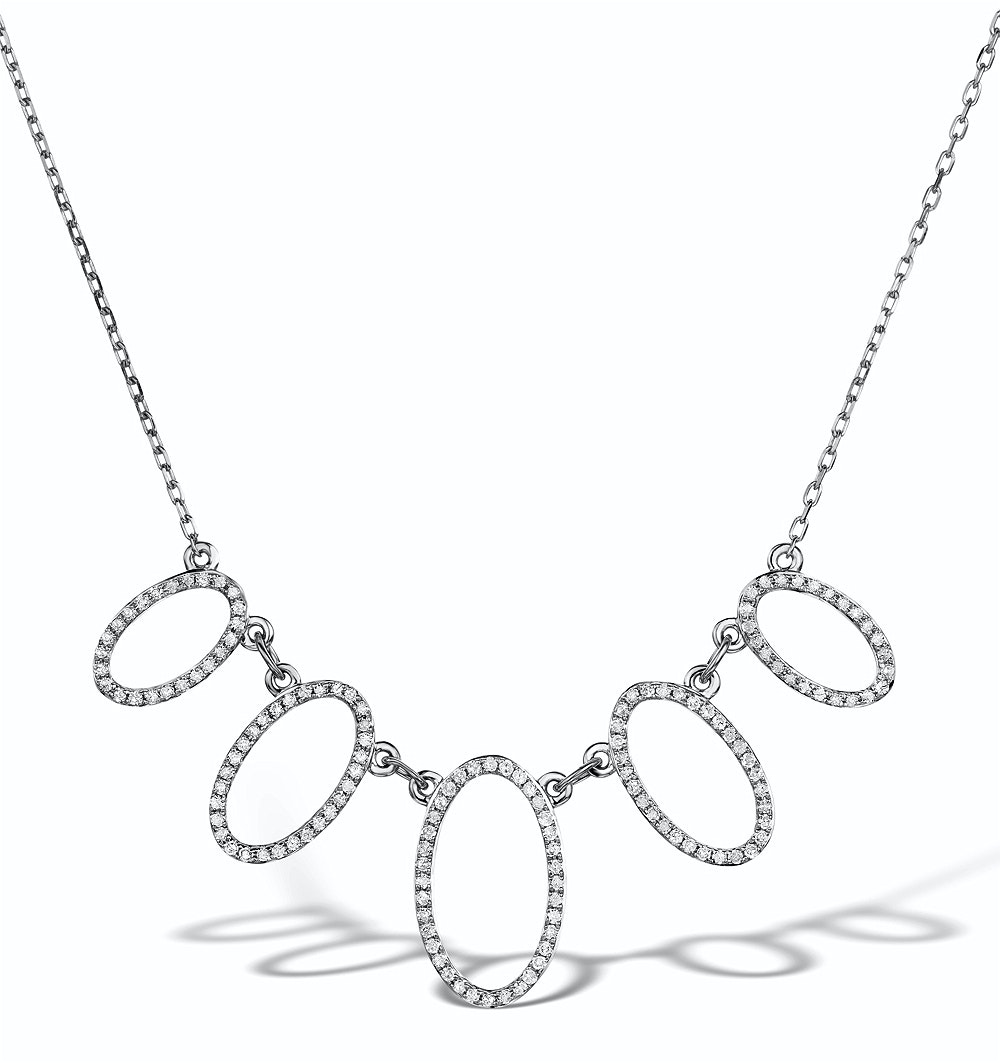 Vivara Collection 0.49ct Diamond and 9K White Gold Necklace D3404y