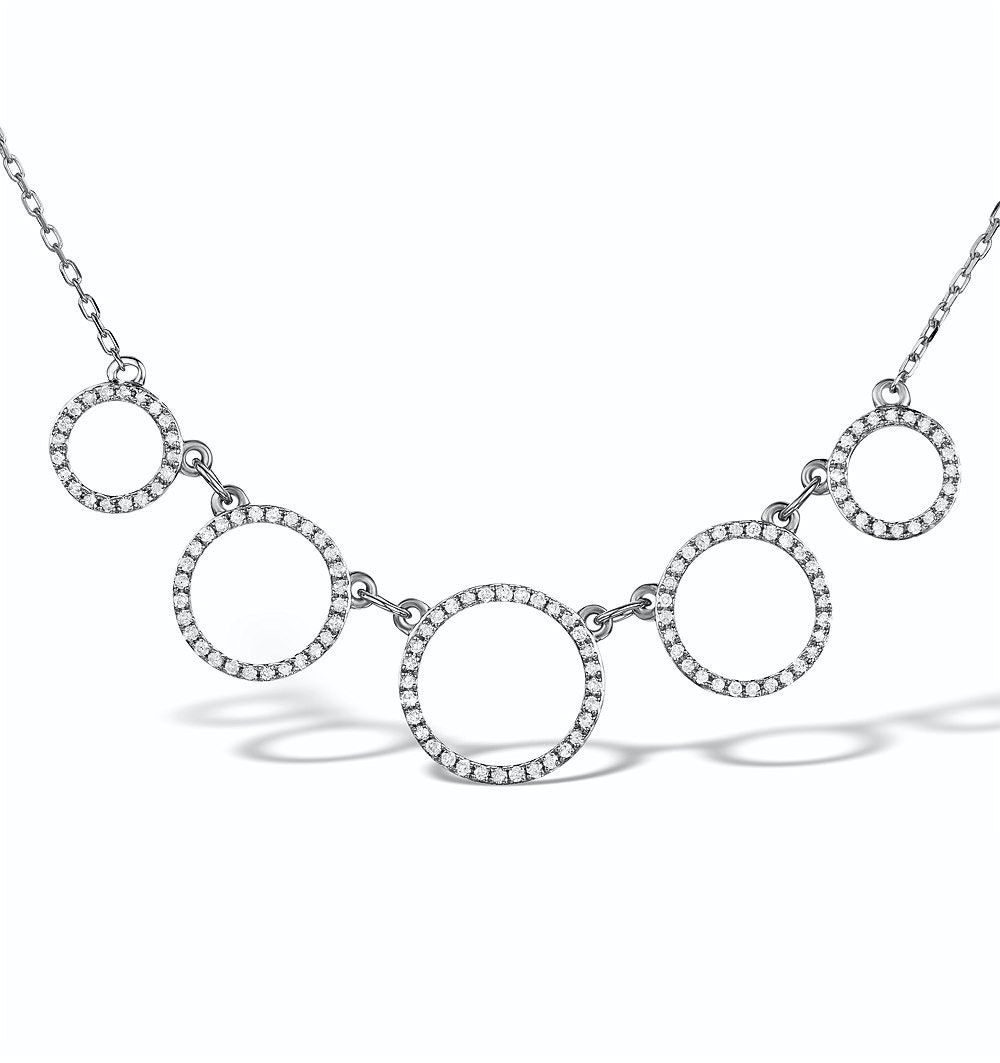 Vivara Collection 0.45ct Diamond and 9K White Gold Necklace D3405y