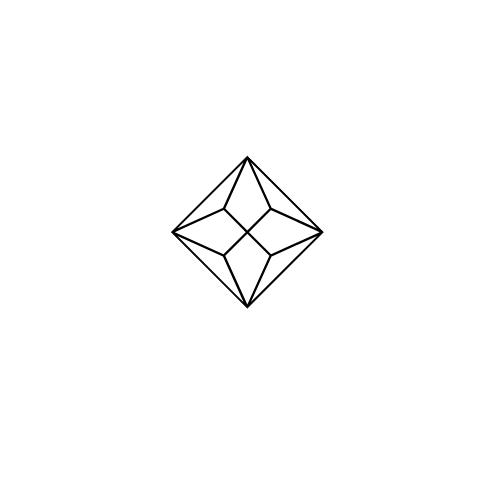 Diamond Stellato Mum Necklace 0.08ct in 9K White Gold - image 3
