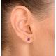 Amethyst 4mm 9K Yellow Gold Earrings - image 4