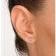 Blue Topaz 4mm 9K Yellow Gold Earrings - image 3