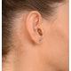 Blue Topaz 4mm 9K Yellow Gold Earrings - image 4