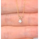 Diamond Solitaire Necklace 0.10CT Diamond 9K Yellow Gold - image 3
