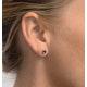 Tanzanite 5 x 4mm (0.70ct) 9K White Gold Earrings - image 4