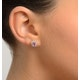 Pink Sapphire 6 X 4mm and Diamond 9K White Gold Earrings B3672 - image 4