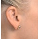Pink Sapphire 6 X 4mm and Diamond 9K Yellow Gold Earrings B3696 - image 4