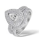 Matching Diamond Engagement - Wedding Ring 1.50ct SI 18K Gold -DN3240 - image 1