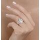 Matching Diamond Engagement - Wedding Ring 1.50ct SI 18K Gold -DN3240 - image 3