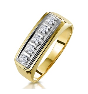 FIVE STONE DIAMOND HALF ETERNITY RING IN 9K GOLD
