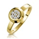 0.15ct Diamond Solitaire Ring in 9K Gold - image 1