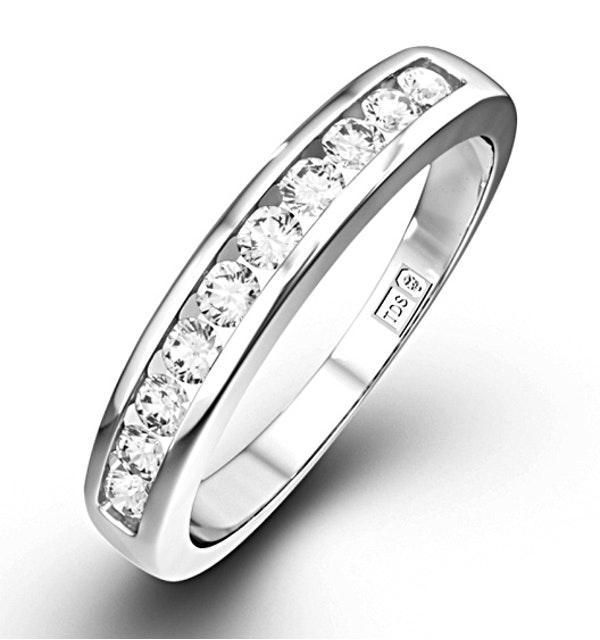 Rae Half Eternity Ring 0.20CT Diamond 9K White Gold - image 1