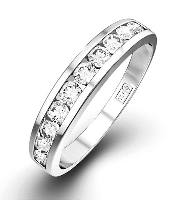 Rae 0.50CT Diamond Half Eternity Ring 9K White Gold - image 1
