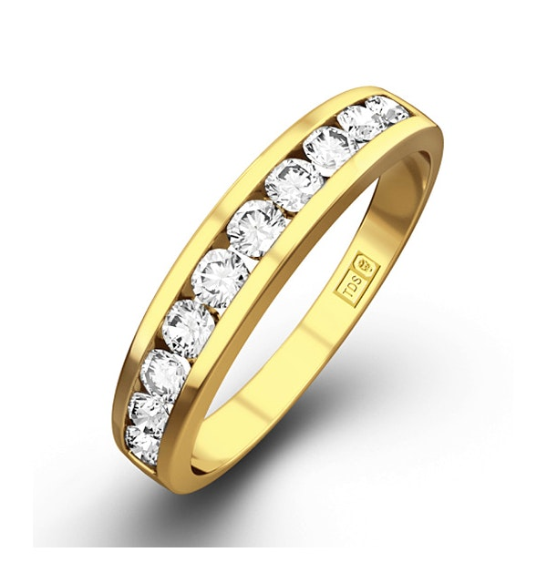 Rae Half Eternity Ring 0.33CT Diamond 9K Yellow Gold - image 1