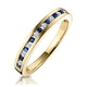 Sapphire 0.12ct And Diamond 9K Gold Ring - image 1