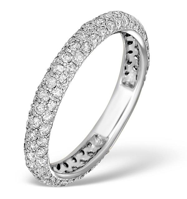 9K White Gold Diamond Full Eternity Ring 1.00ct - E5213