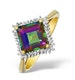 9K Gold Diamond and Mystic Topaz Cluster - E5592 - image 1