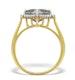 9K Gold Diamond and Mystic Topaz Cluster - E5592 - image 2
