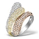 9K Gold 3 Tone Diamond Ring 1.09ct - image 1