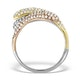 9K Gold 3 Tone Diamond Ring 1.09ct - image 2