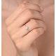 Diamond 0.04ct 9K White Gold Cluster Ring - E5885 - image 3
