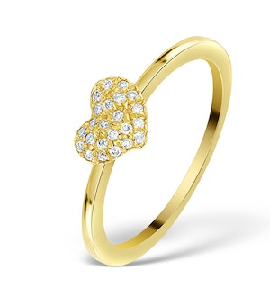 0.36CT DIAMOND AND 9K GOLD DAISY RING -  SIZE T