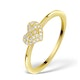 0.36ct Diamond and 9K Gold Daisy Ring -  Size T - image 1