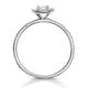 Ella Halo Diamond Engagement Ring 0.53ct set in 9K White Gold - image 2