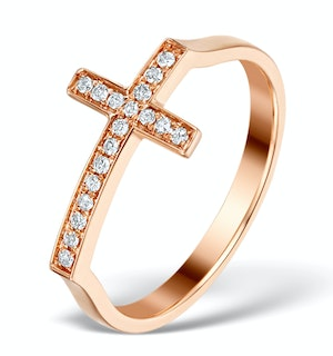 VIVARA COLLECTION 0.11CT DIAMOND AND 9K ROSE GOLD RING E5944