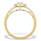 Halo Engagement Ring Martini Diamond 0.45CT Ring in 9K Gold E5972 - image 2