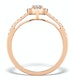 Halo Engagement Ring Martini Diamond 0.45CT Ring in 9K Rose Gold E5974 - image 2