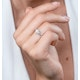 Stellato Collection Pearl and Diamond Heart Ring in 9K White Gold - image 2