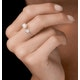 Pearl and Diamond Heart Ring in 9K White Gold - Stellato Collection - image 2