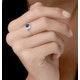 0.20ct Sapphire and Diamond Stellato Ring in 9K White Gold - image 2