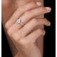 Masami Pear Shaped Pave Diamond Engagement Ring 0.15ct 9K White Gold - image 2