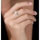 Masami Diamond Engagement Ring 0.20ct Pave Set Halo in 9K White Gold - image 2