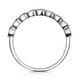 Stellato Sapphire and Diamond Eternity Ring in 9K White Gold - image 2