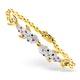 18K Gold Diamond and Multi Stone Dolphin Design Bracelet 0.05CT - image 1