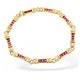 18K Gold Diamond and Ruby Bar Bracelet 0.50CT - image 1