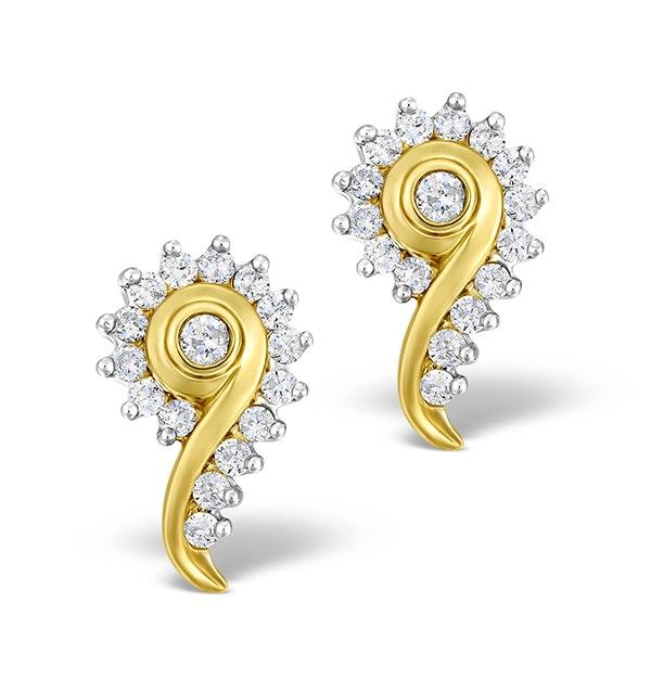 Diamond 0.40ct 9K Gold Earrings - RTC-EG232