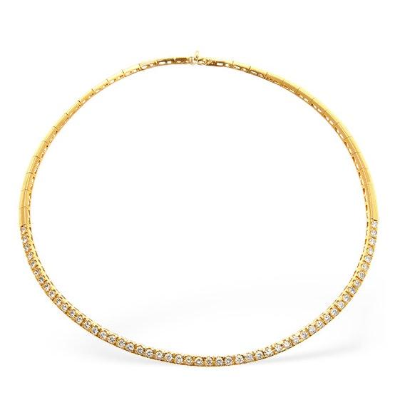 Diamond 5.25ct 18K Gold Necklace - RTC-EP2248