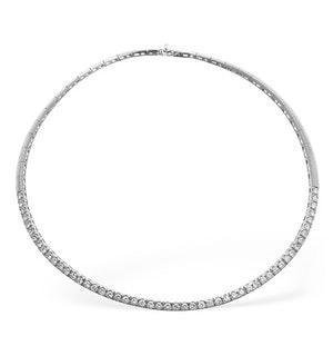DIAMOND 5.25CT 18K WHITE GOLD NECKLACE - RTC-EP2248Y