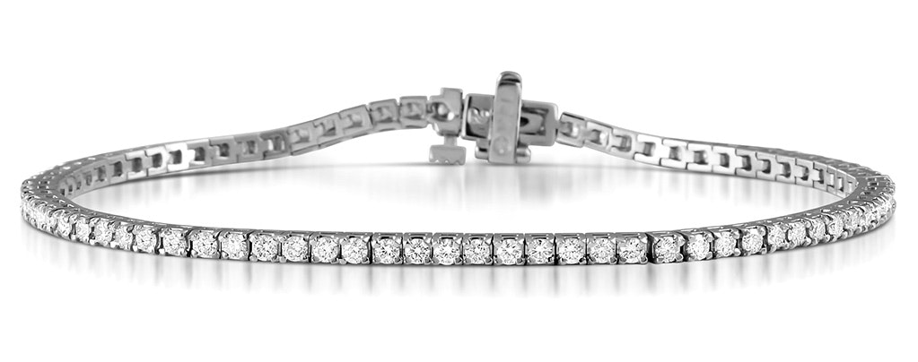 Diamond Tennis Bracelet Chloe 2.00ct Premium Claw Set 18K White Gold