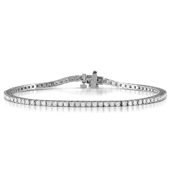Diamond Tennis Bracelet Chloe 2.00ct H/Si Claw Set in 18K White Gold - image 1