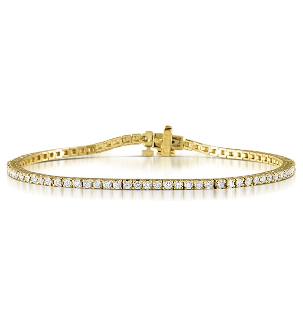 Diamond Tennis Bracelet Chloe 2.00ct H/Si Claw Set in 18K Gold - image 1