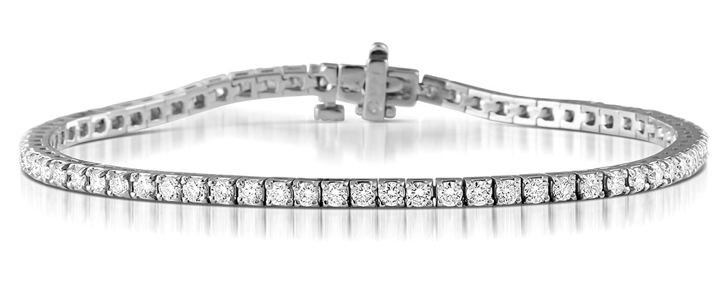 Diamond Tennis Bracelet Chloe 3.00ct Premium Claw Set 18K White Gold