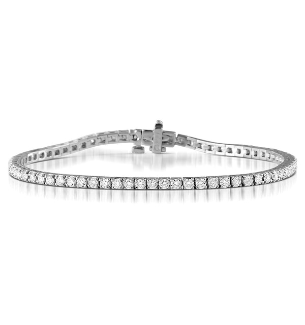 Diamond Tennis Bracelet Chloe 3.00ct Premium Claw Set 18K White Gold - image 1