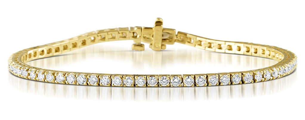 Diamond Tennis Bracelet Chloe 3.00ct H/Si 18K Gold Item FDT23-5JUA