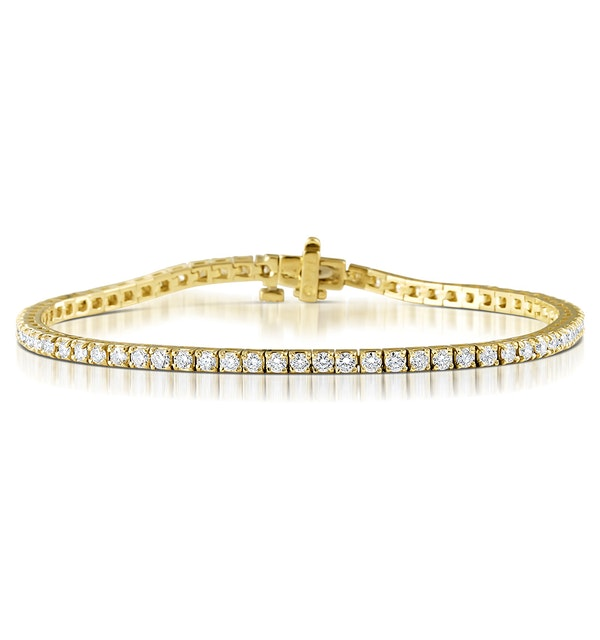 Diamond Tennis Bracelet Chloe 4.00ct Premium Claw Set in 18K Gold - image 1