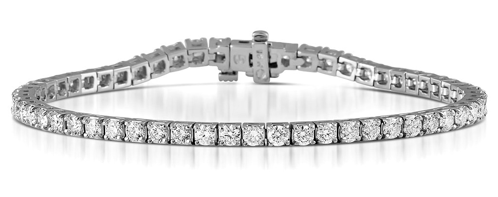 Diamond Tennis Bracelet Chloe 5.00ct H/Si Claw Set in 18K White Gold