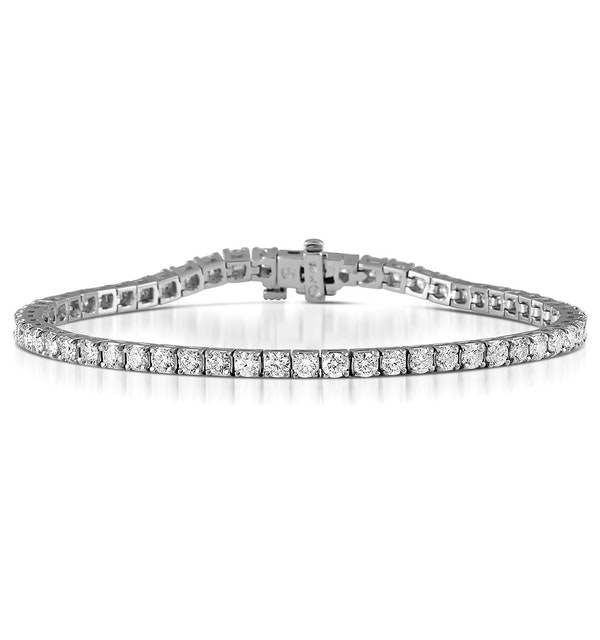 Diamond Tennis Bracelet Chloe 6.00ct Premium Claw Set 18K White Gold - image 1